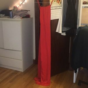 Red Strappy Back Detail Chiffon Maxi Dress Off 63 Felasa Eu